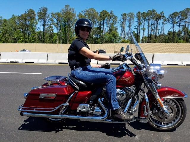 A FBGz member on her bike