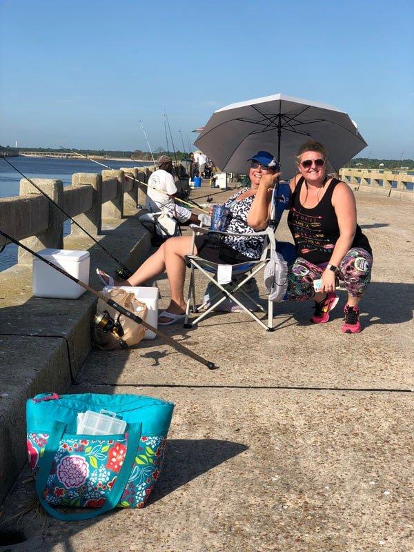 Two FBGz members enjoying fishing