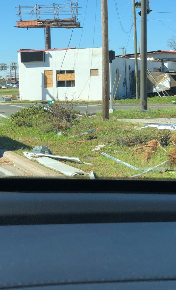 Some of the damage after Hurricane Michael