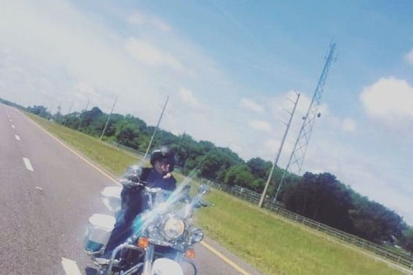 A FBGz member on her bike.